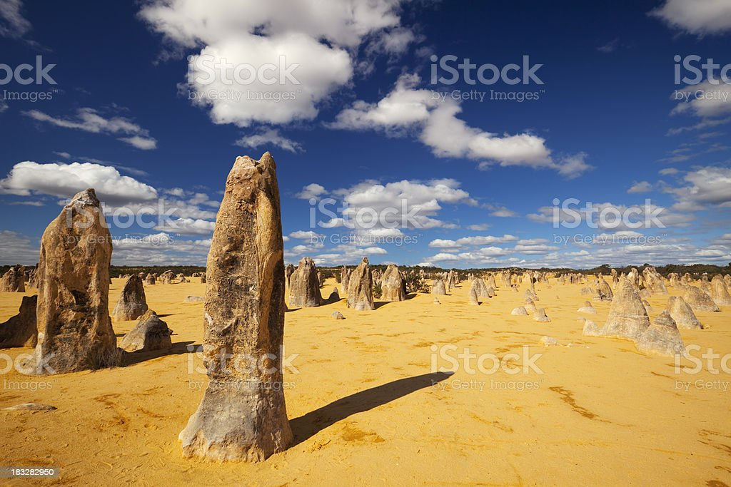 The Pinnacles Desert in Nambung National Park, Western Australia royalty-free stock photo