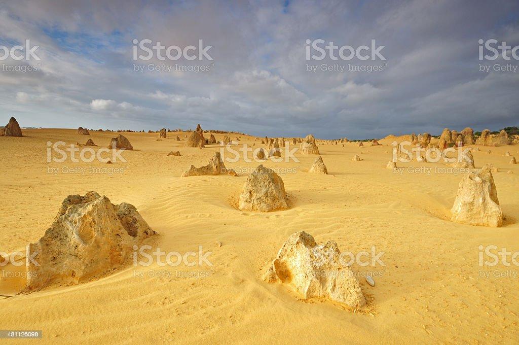 The Pinnacles Desert, Nambung National Park, Australia stock photo