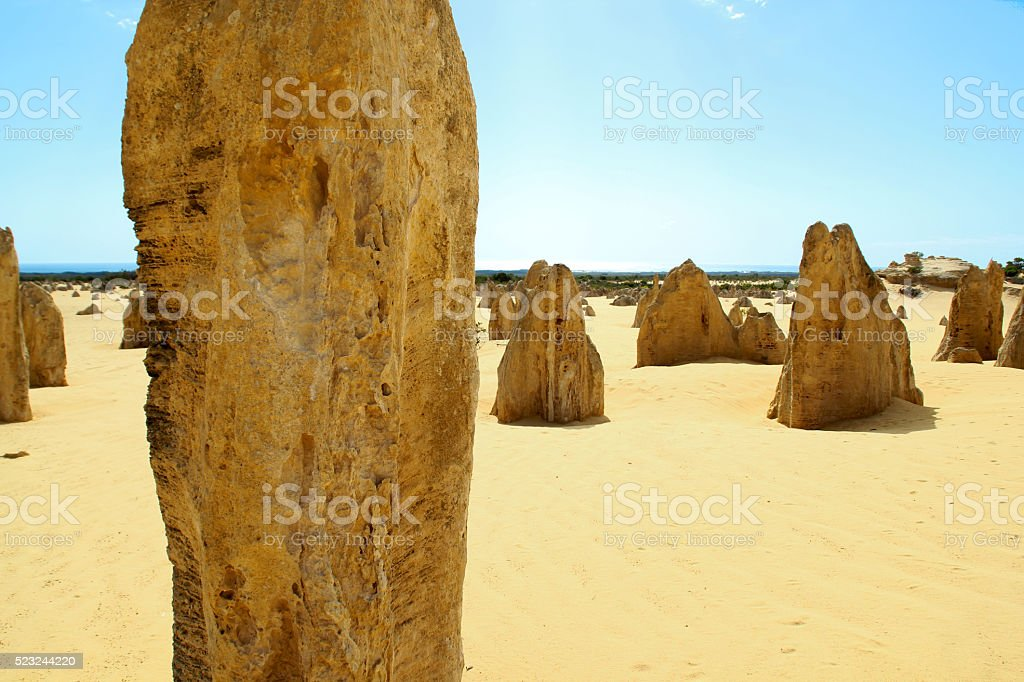 The Pinnacles Desert, Nambung National park, Western stock photo