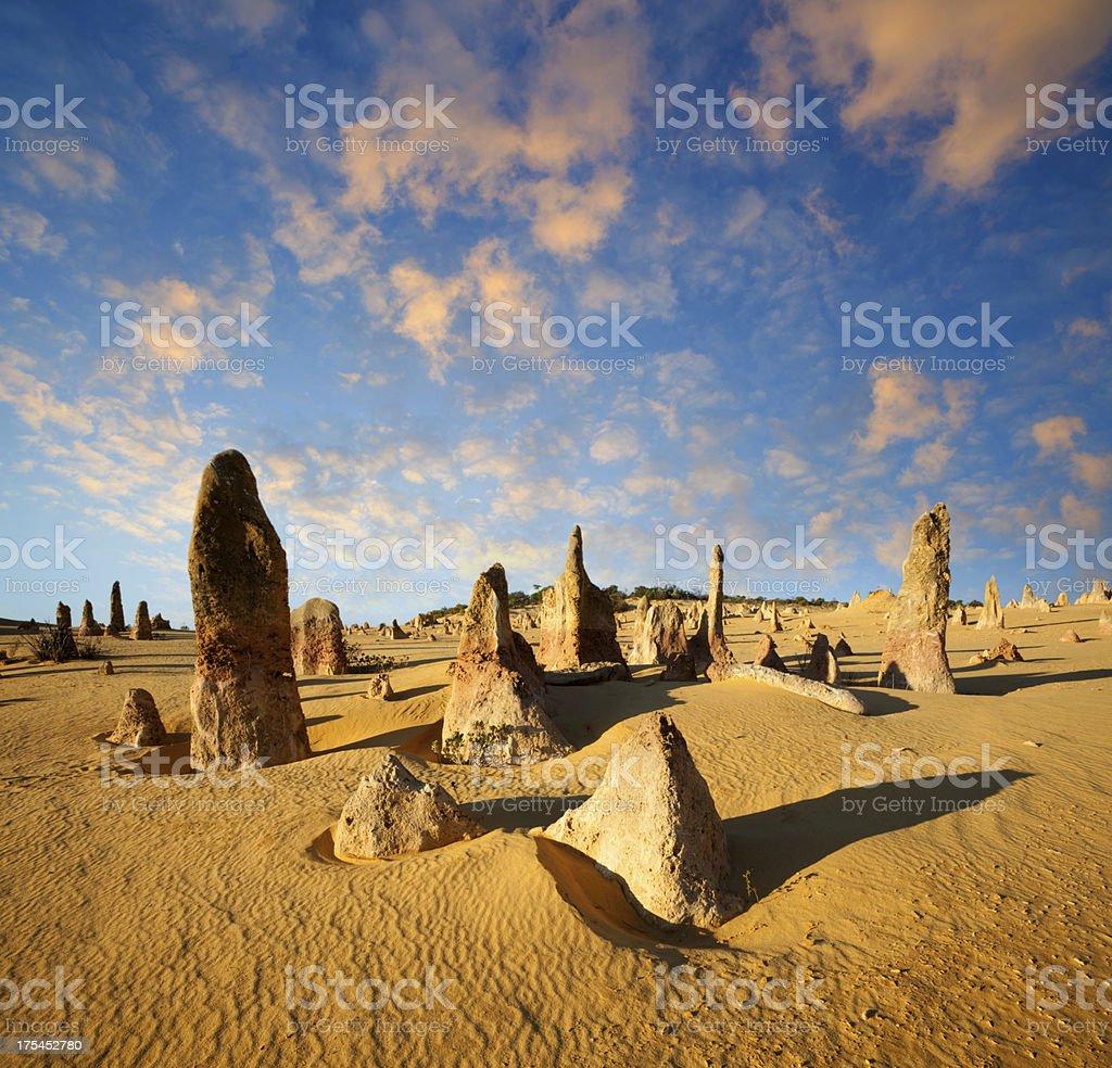 The Pinnacles In Western Australia stock photo