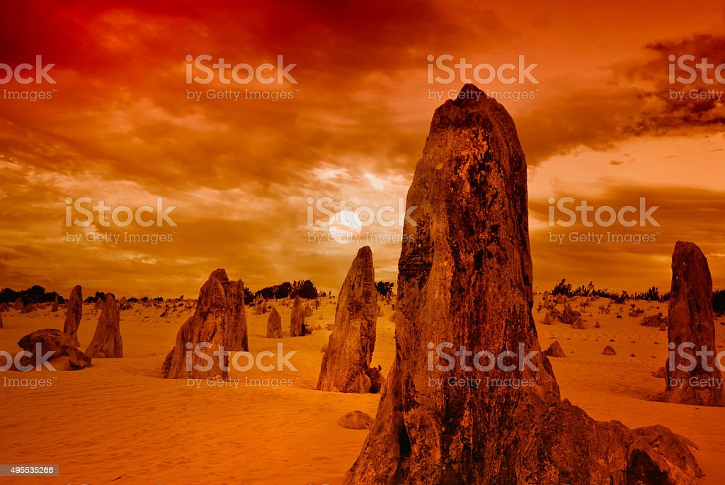 The Pinnacles - Numbung National Park, Western Australia stock photo