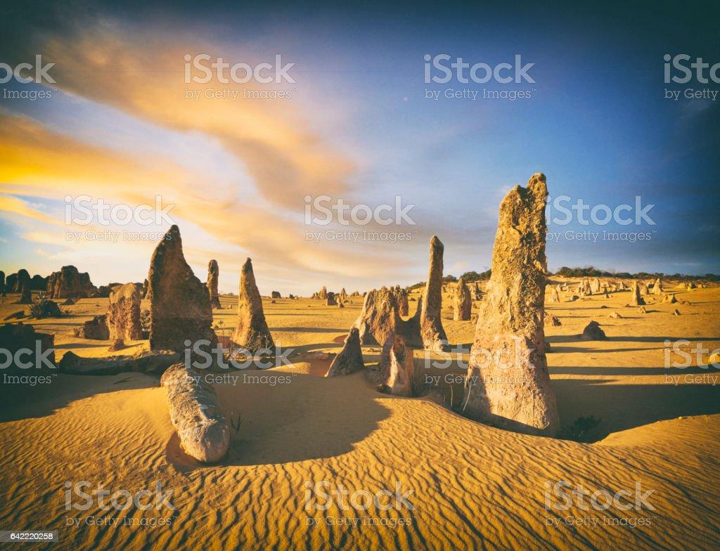 The Pinnacles Of Western Australia stock photo