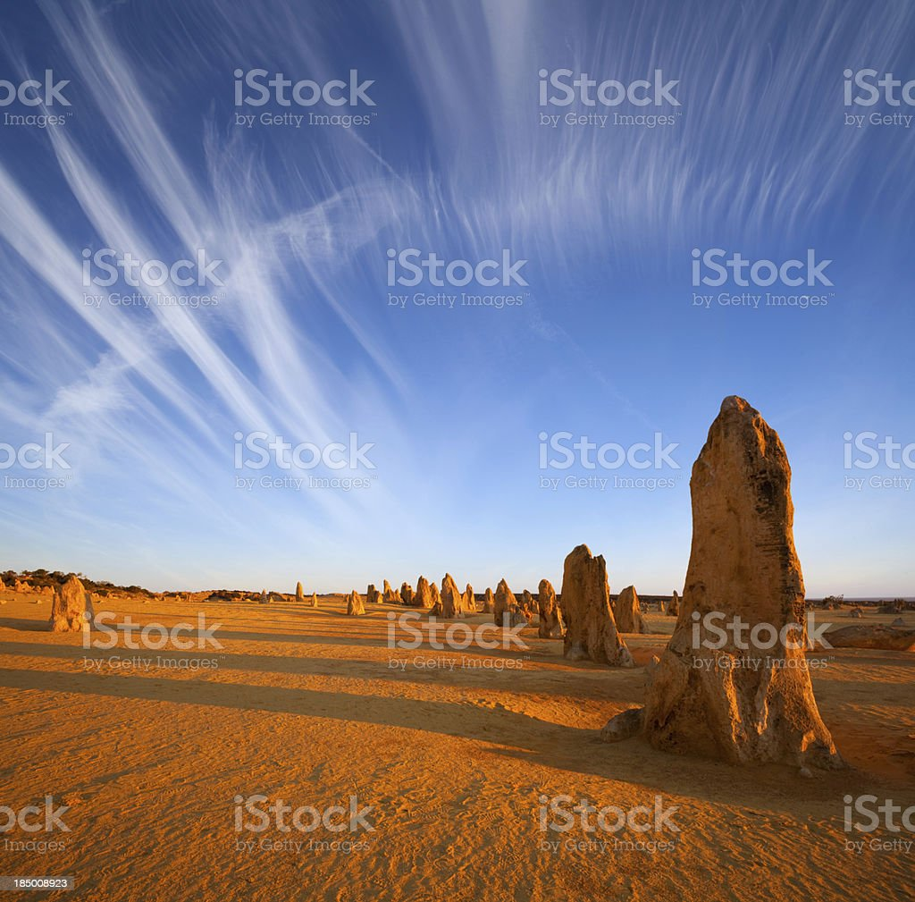 The Pinnacles Western Australia Outback royalty-free stock photo