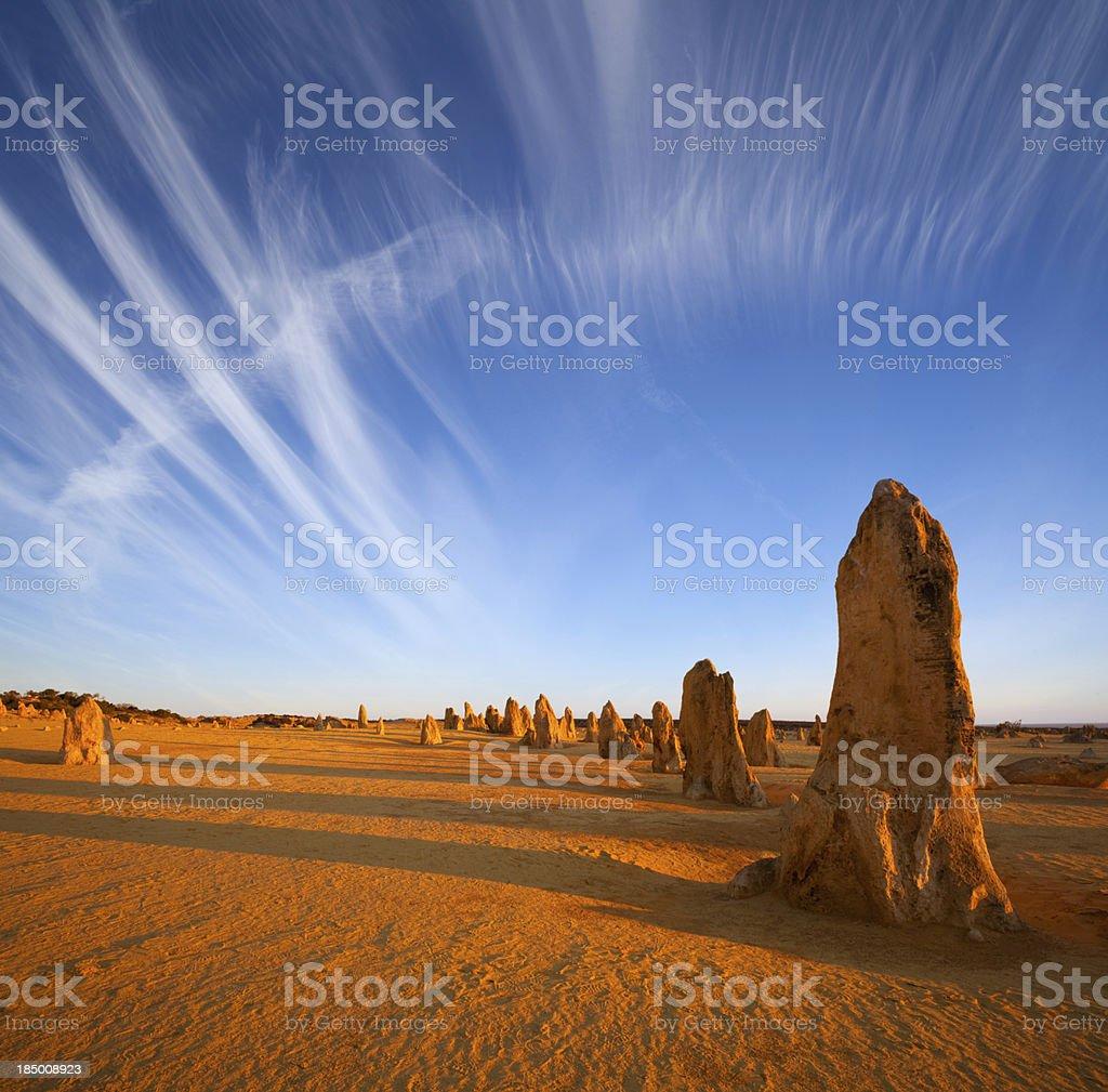 The Pinnacles Western Australia Outback stock photo