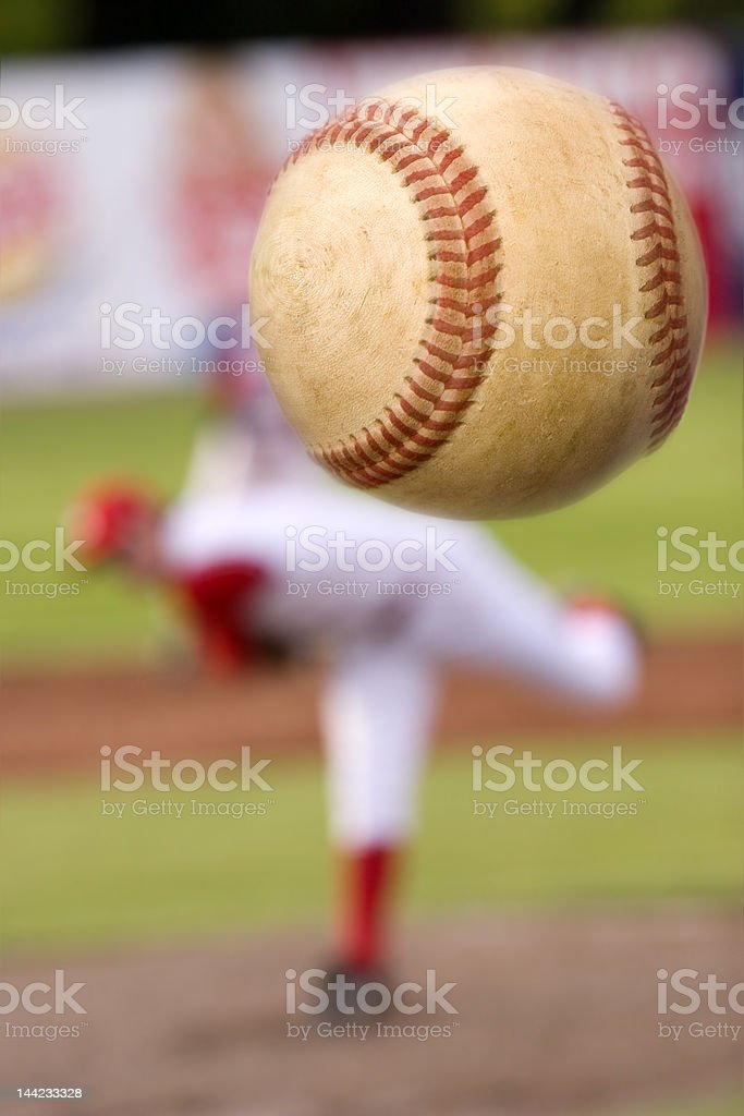 The pitch stock photo