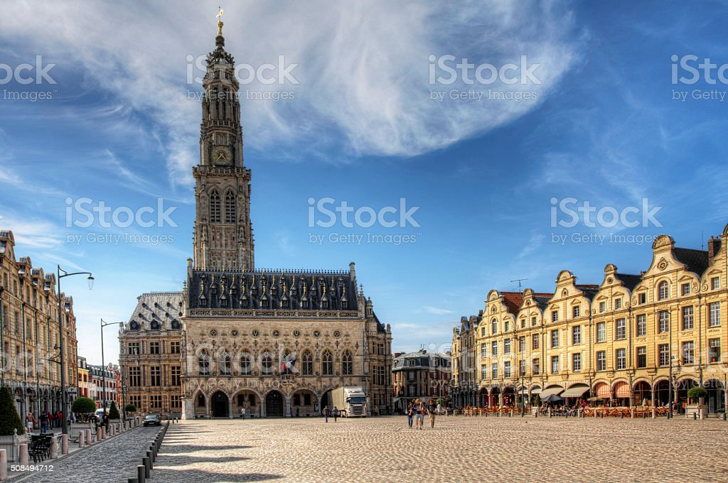 The Place des Heros in Arras, France stock photo