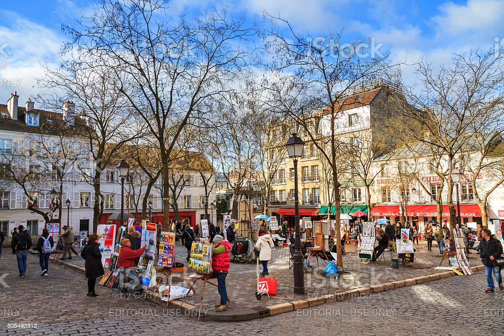 The Place du Tertre stock photo