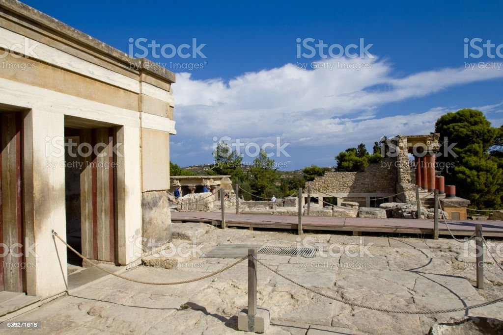 The place in the ancient palace of Knossos stock photo