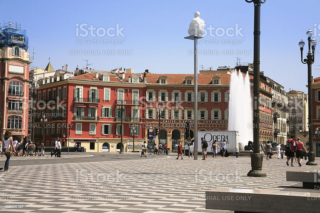 The Place Massena in Nice, France royalty-free stock photo
