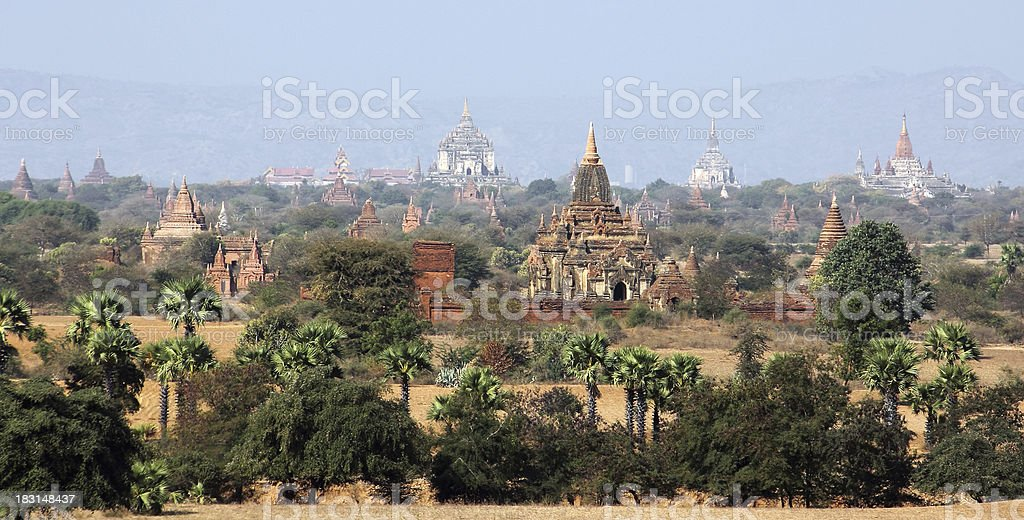 The plains of Bagan royalty-free stock photo