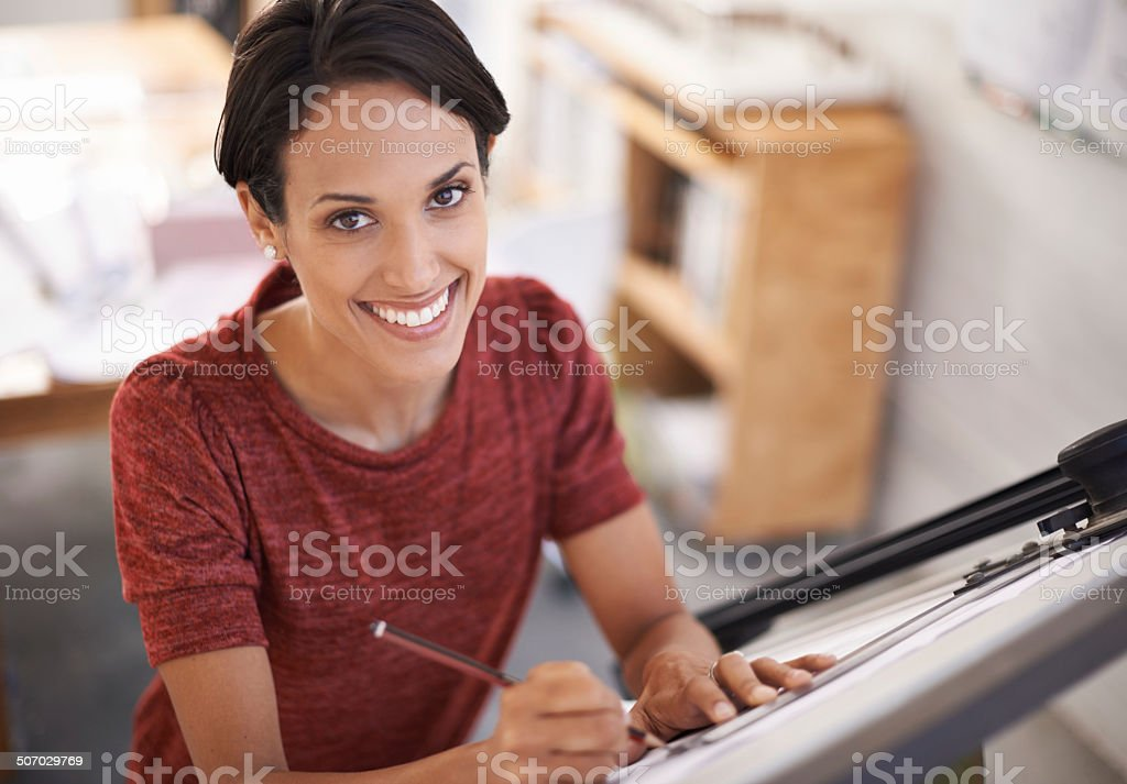 The plans are coming along nicely! royalty-free stock photo