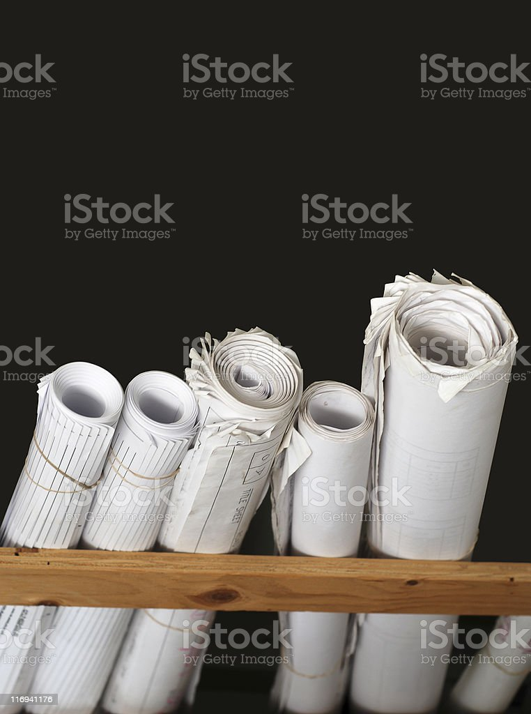 The plans royalty-free stock photo