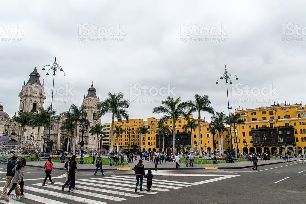 The Plaza de Armas stock photo