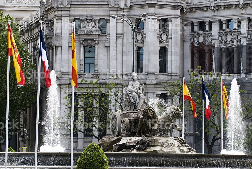 The Plaza de Cibeles stock photo