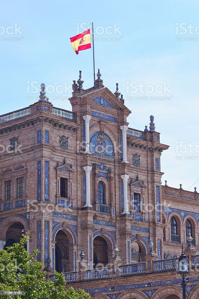 the plaza de Espana in Seville royalty-free stock photo