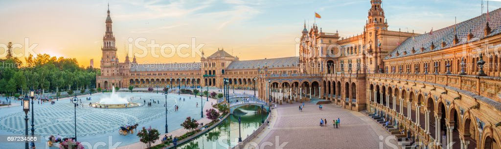 The Plaza Espana stock photo