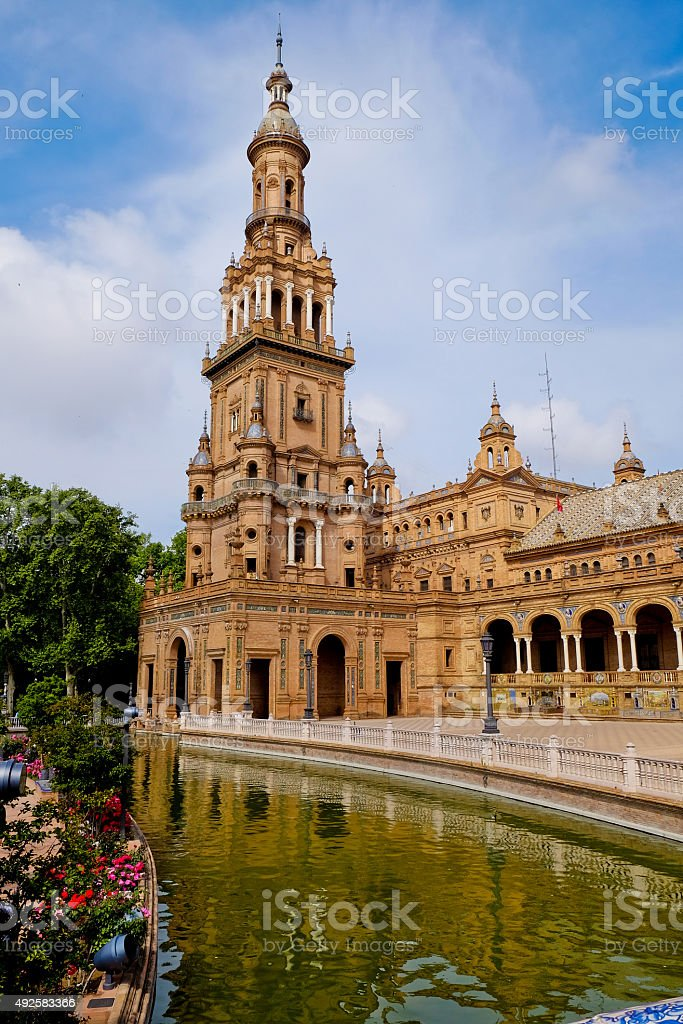 The Plaza of Spain in Seville stock photo