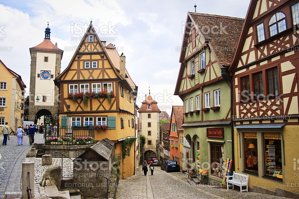The Plonlein, Rothenburg ober der Tauber, Bavaria, Germany royalty-free stock photo