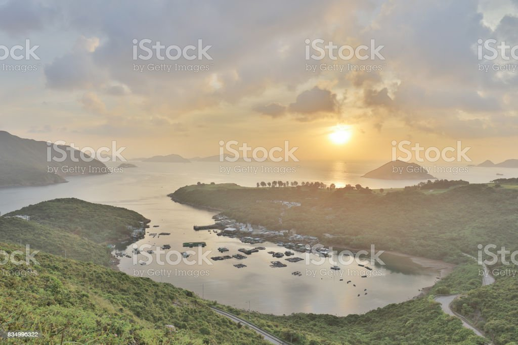 the Po Toi O at morning, Hong Kong stock photo