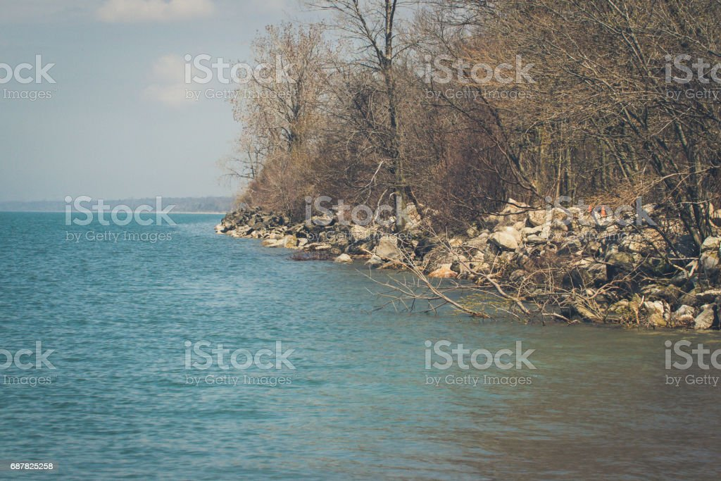 The Point At Point Pelee National Park stock photo