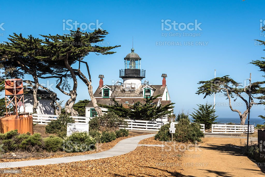 The Point Pinos Lighthouse, Pacific Grove stock photo