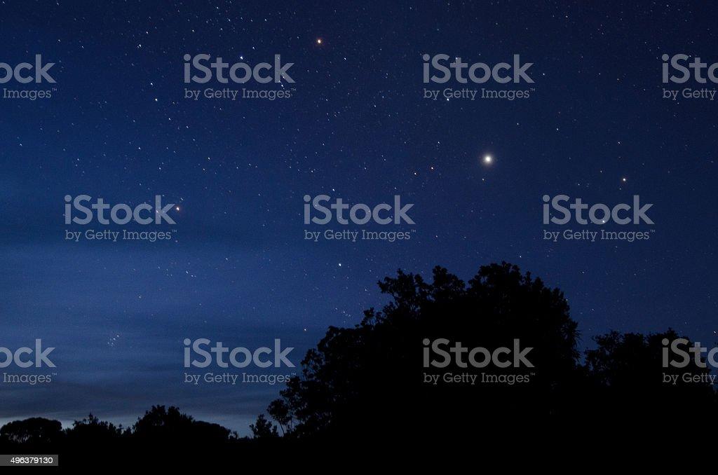 The Polaris star stock photo