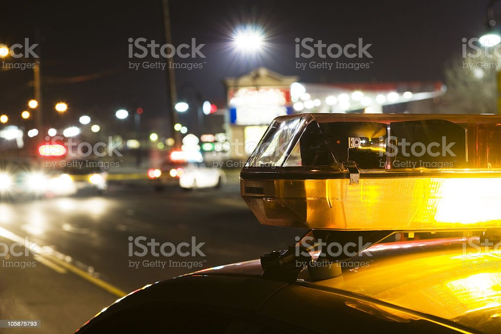 The police investigating a crime stock photo