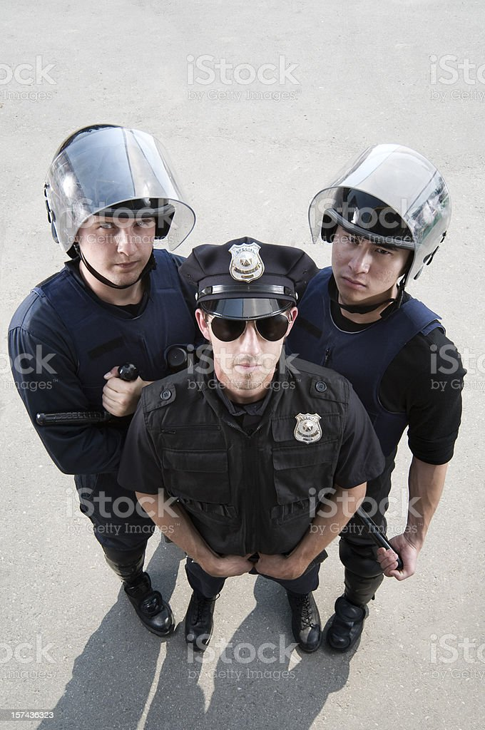 The Police royalty-free stock photo