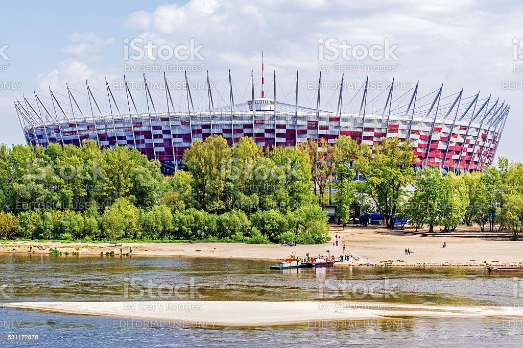 The Polish National Stadium stock photo