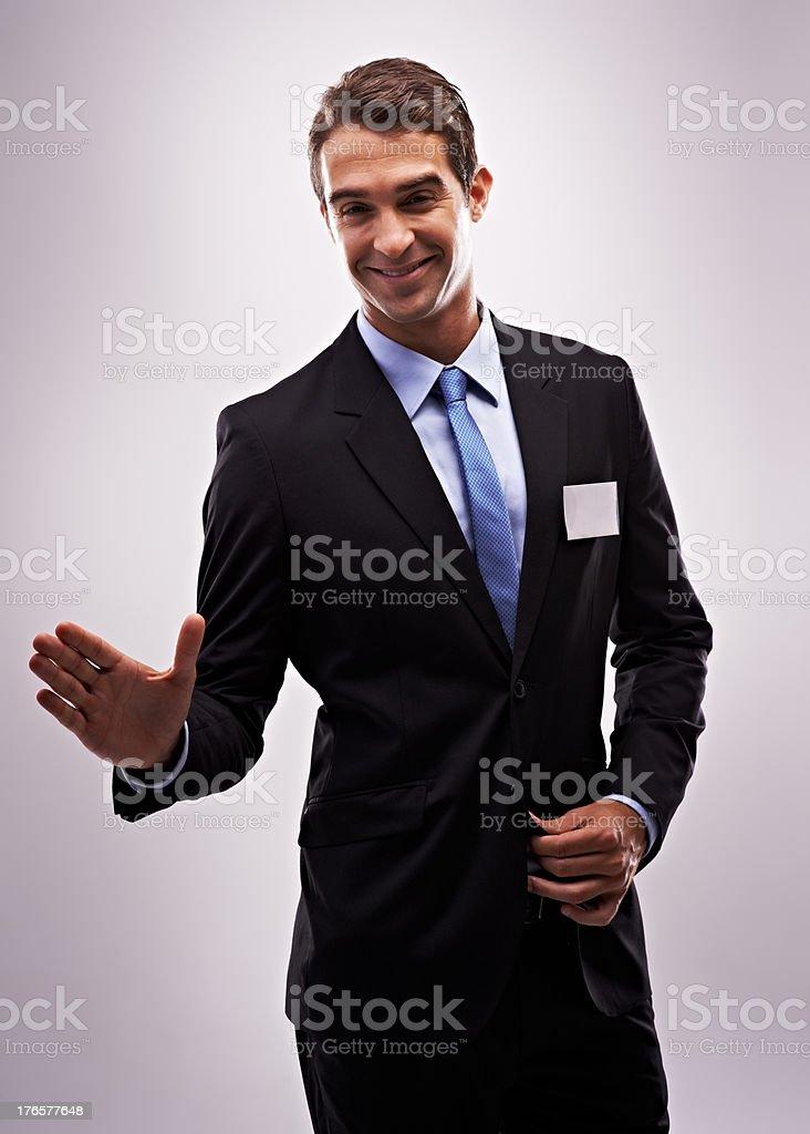 The politician stock photo