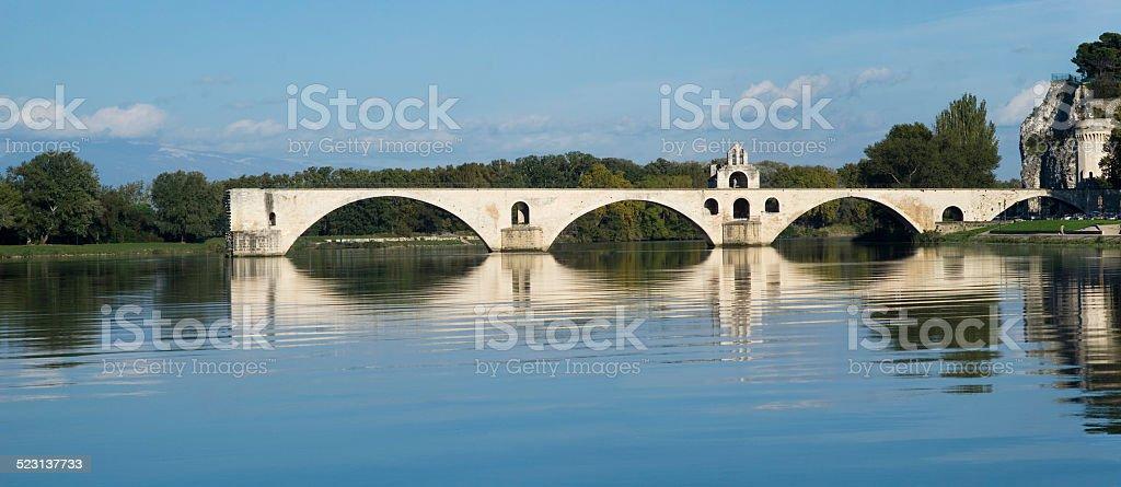 The Pont d'Avignon on the Petit Rhone stock photo