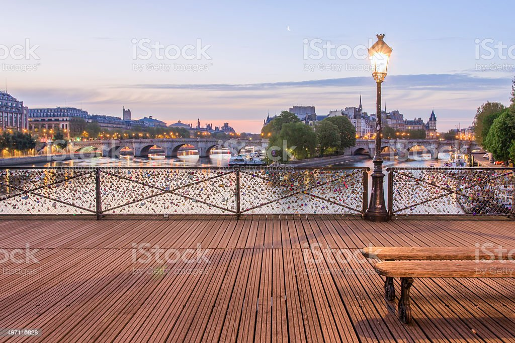 Le Pont des Arts stock photo