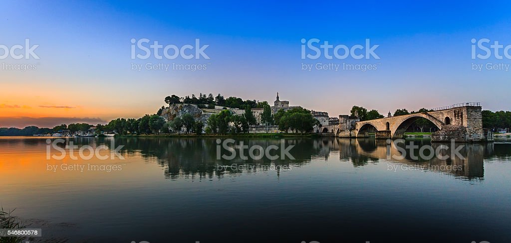 The Pont Saint Benezet stock photo
