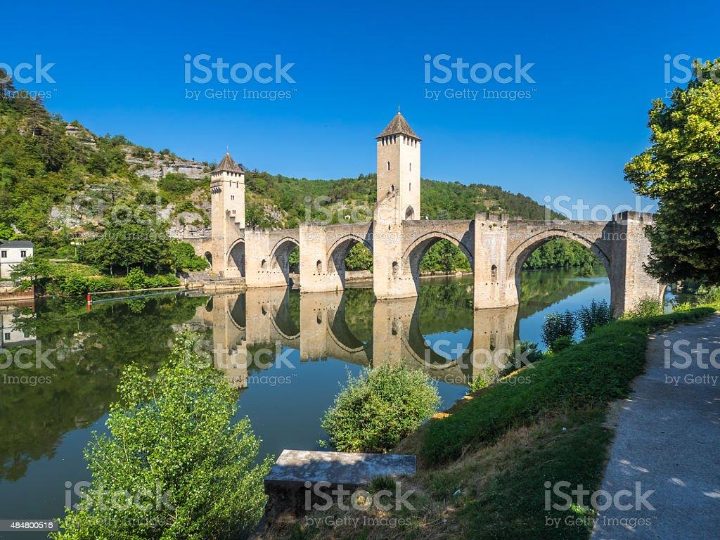 The Pont Valentre stock photo