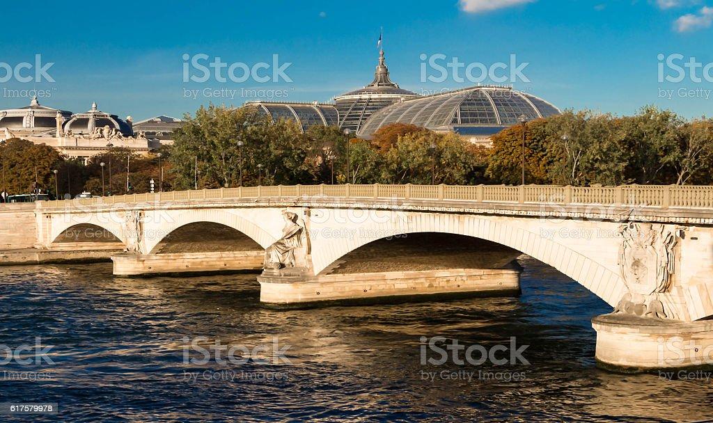 The Pont(bridge)des Invalides, Paris, France. stock photo
