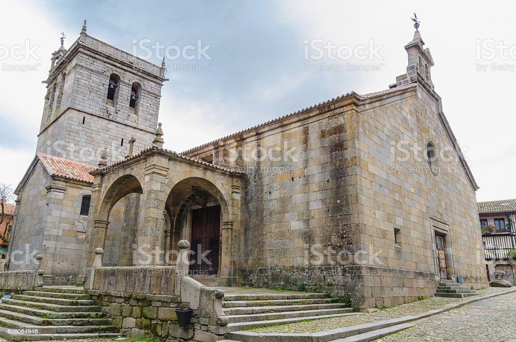 La Alberca church stock photo