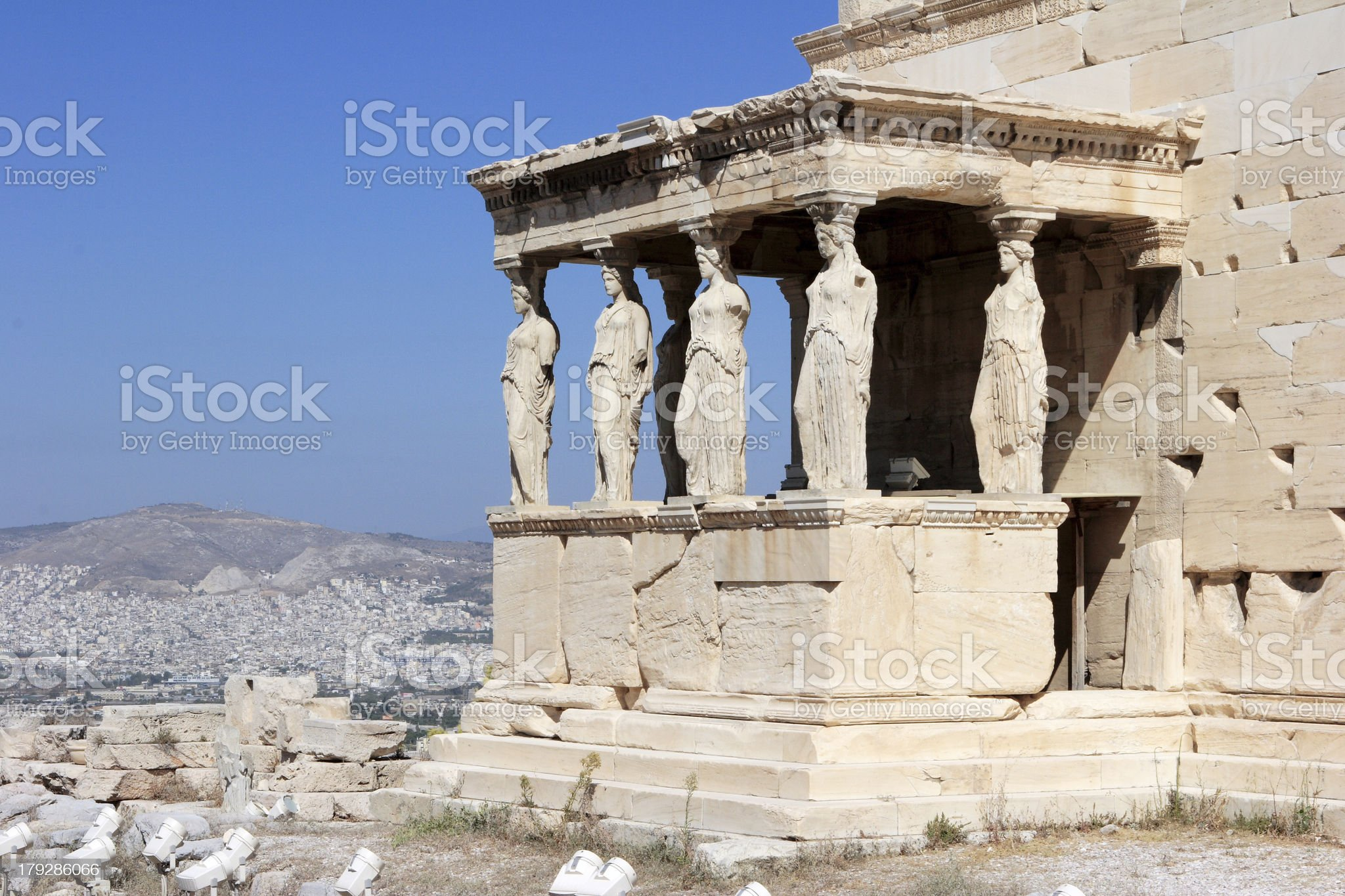 The Porch of Maidens royalty-free stock photo