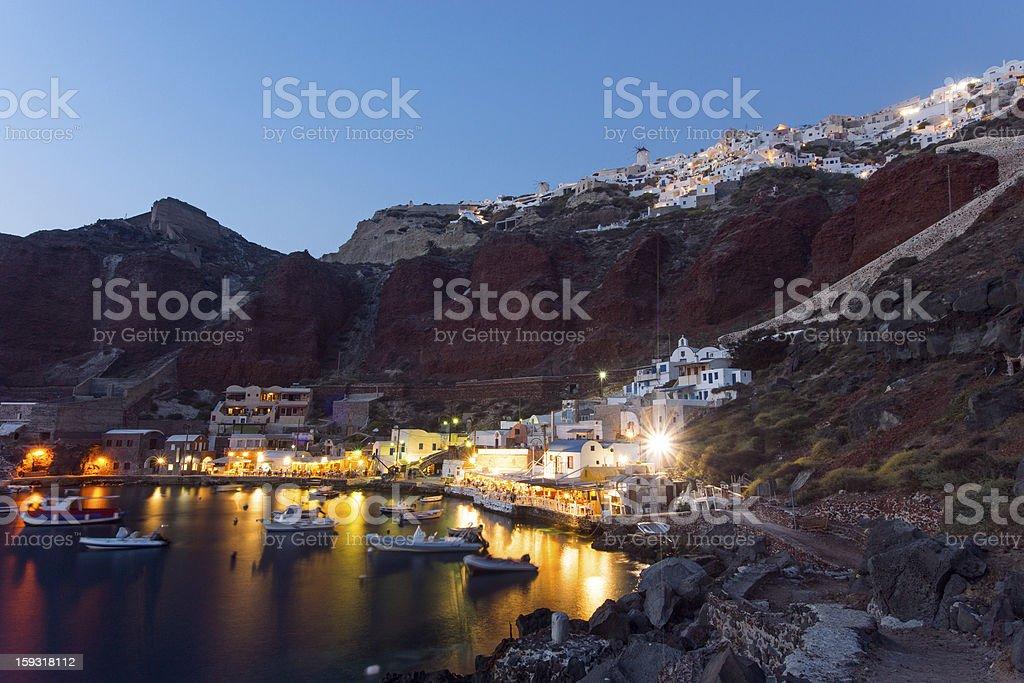 The port of Ammoudi stock photo