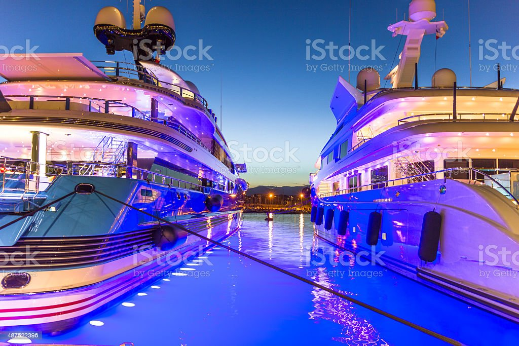 The port of Antibes, French Riviera stock photo