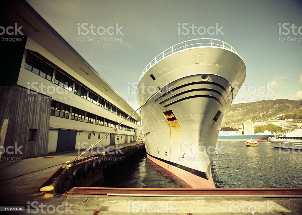 The Port of Bergen royalty-free stock photo