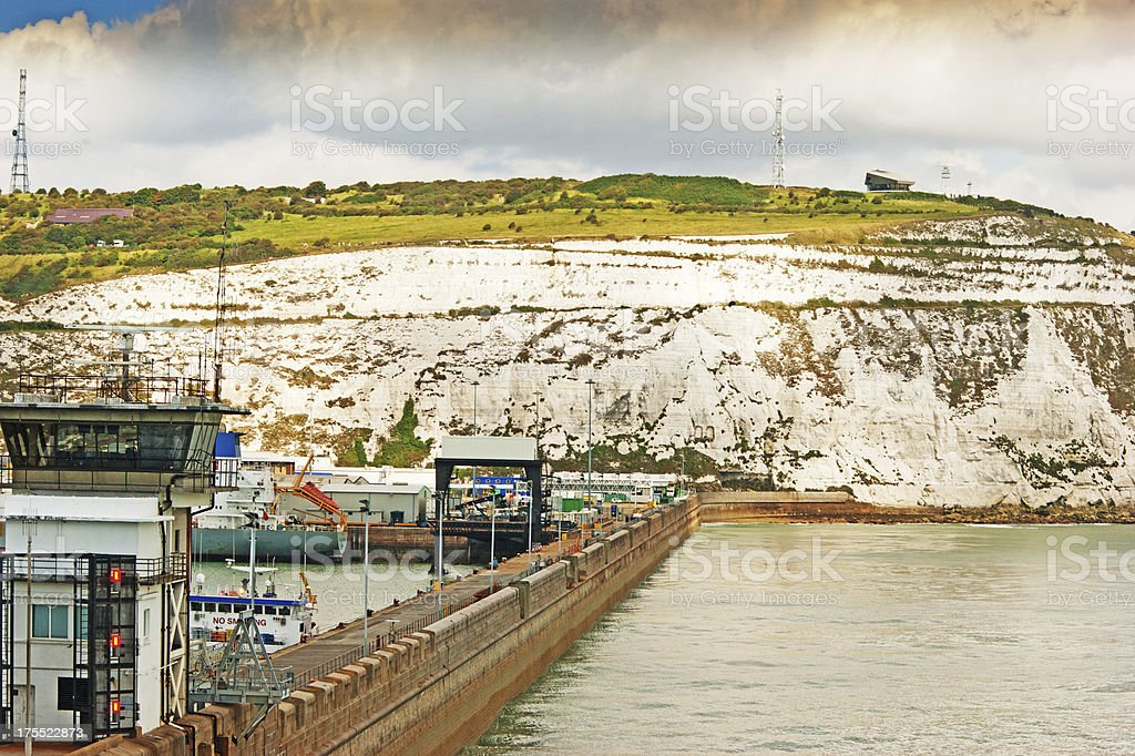 The port of Dover royalty-free stock photo
