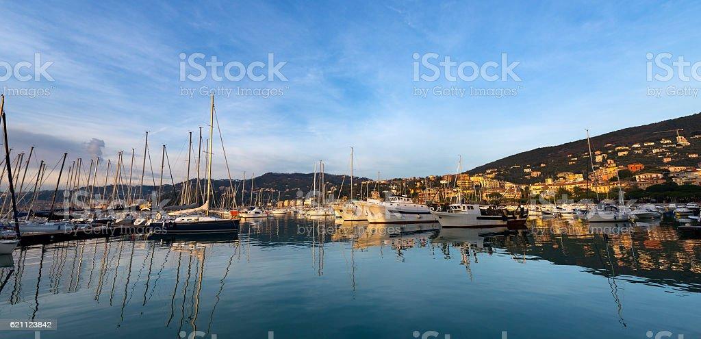The Port of Lerici - Liguria italy stock photo