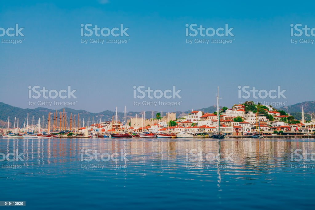 The port of Marmaris, Mugla, Turkey stock photo