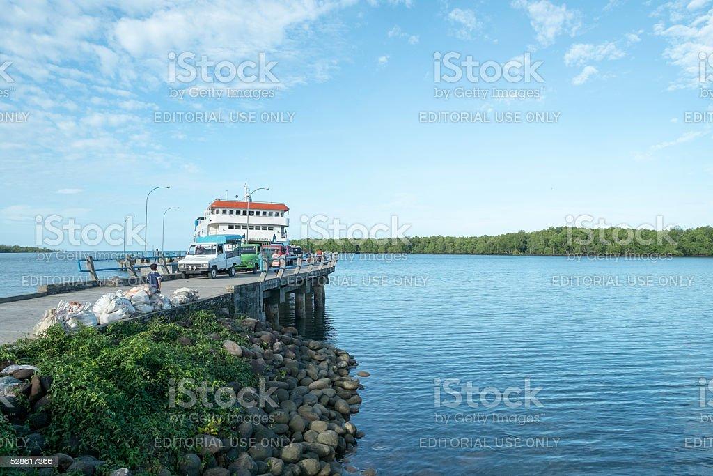 The port of Muara Siberut stock photo