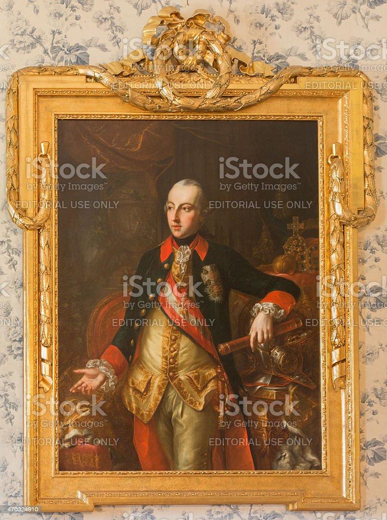 The portrait of Austrian emperor Joseph II stock photo
