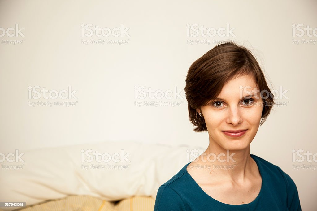 the portrait of woman stock photo