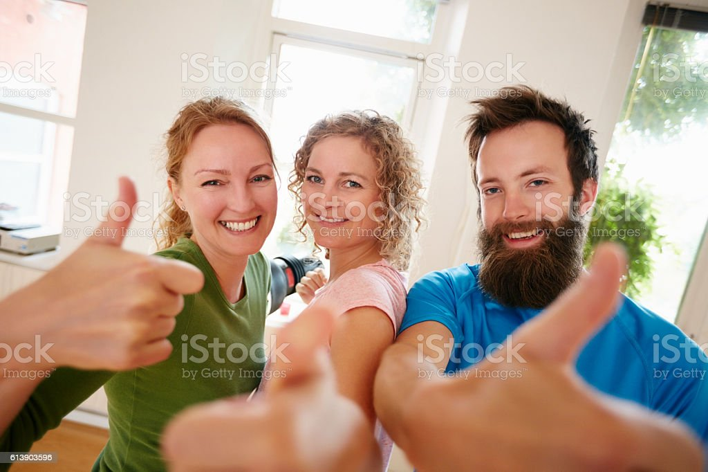 The positive effects of yoga is no secret stock photo