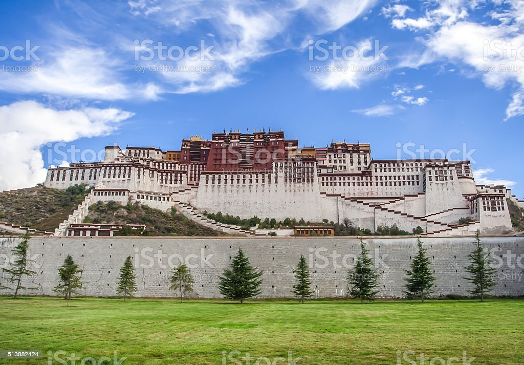 The Potala Palace in Tibet stock photo