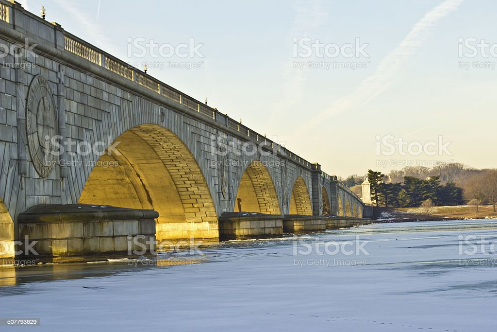 The Potomac River in Winter stock photo