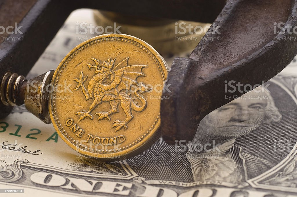 The Pound Sterling Under US Pressure H royalty-free stock photo